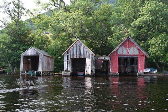 Boat Houses in Urquhart Bay.