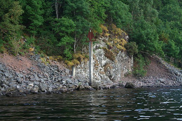 Mile Stone on southern shore of Loch Ness
