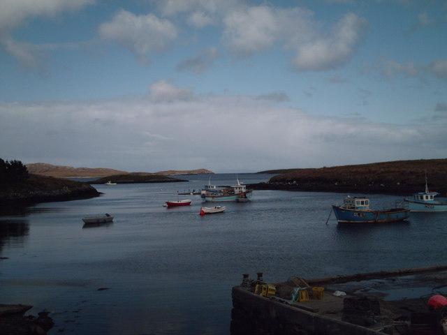 View from Lochmaddy pier