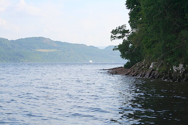 Coasting along the northern shore of Loch Ness; Foyers Power  station is visible mid picture.