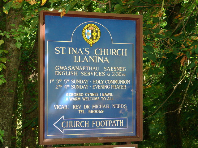 St. Ina's Church, Llanina.