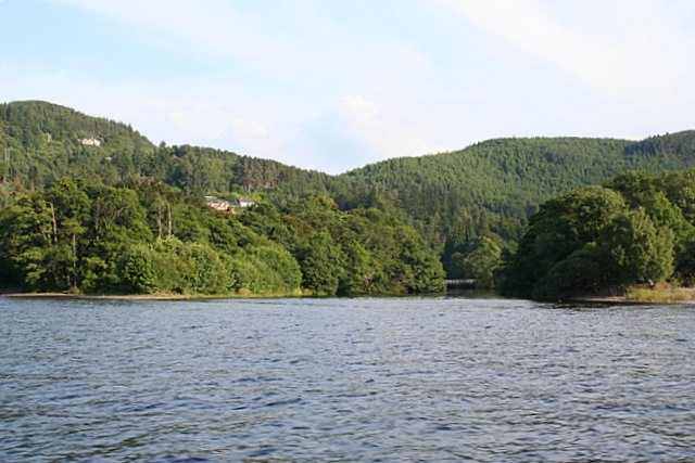 Island at the mouth of the River Foyers