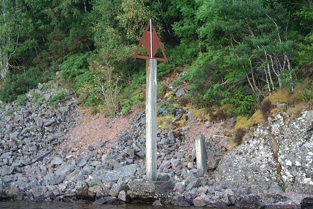 John Cobb's measured mile on the southern shore.