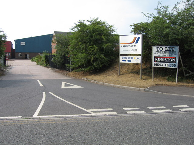Industrial units alongside the A38(T), just south of Branston, Staffordshire.