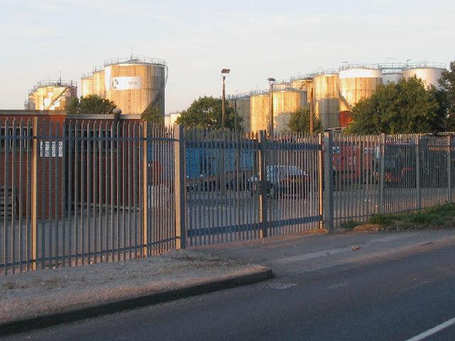 Oil storage tanks, Eastham