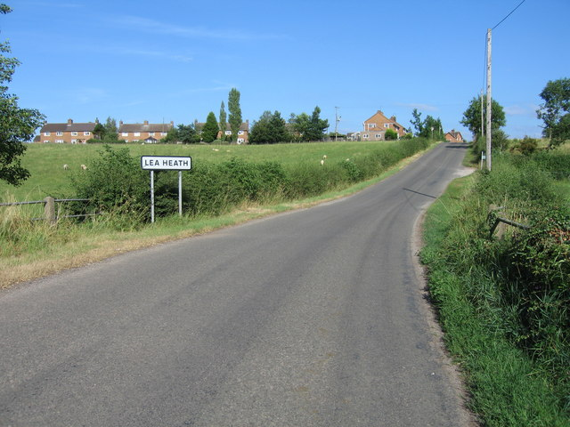 Hamlet of Lea Heath, near Hixon, Staffordshire.
