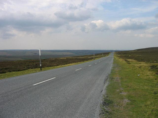 Moorland road near Hisehope Head