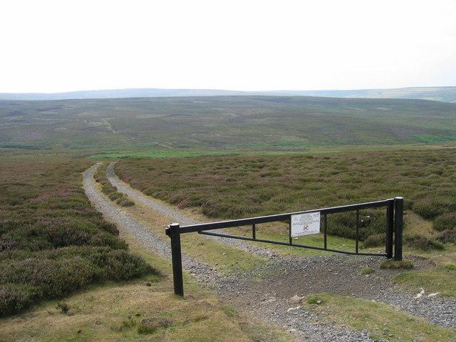 Track leading towards Black Hill
