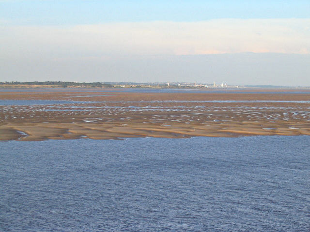 Sandbank in the Mersey Estuary
