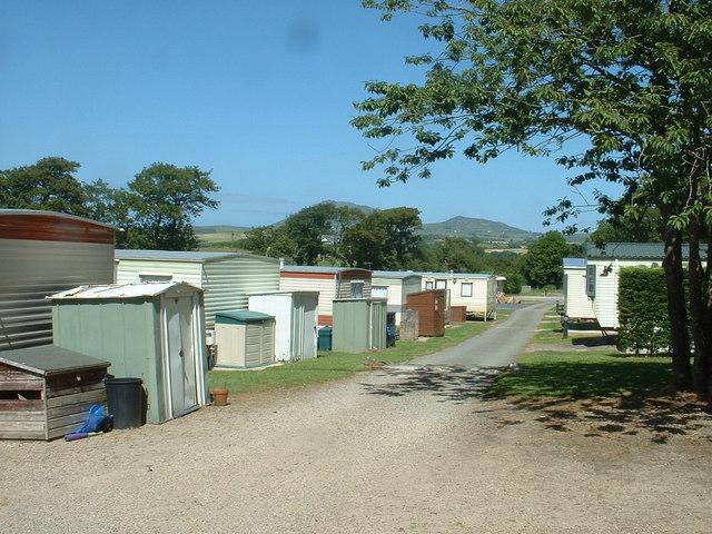 Caravan site at Plas Gelliwig