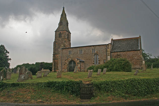 Storm clouds over St Botolph's Church, Wardley