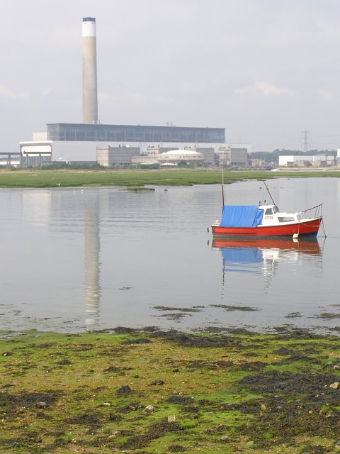 Calshot Marshes and power station