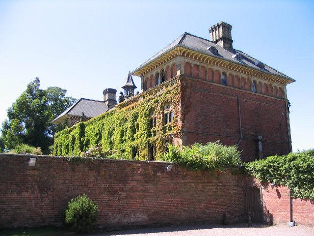 Oblique view of Soughton Hall