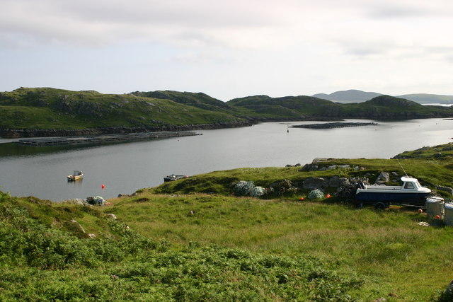 Looking from Bostadh to Little Bernera
