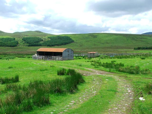 Sheepfold at Strathrannoch