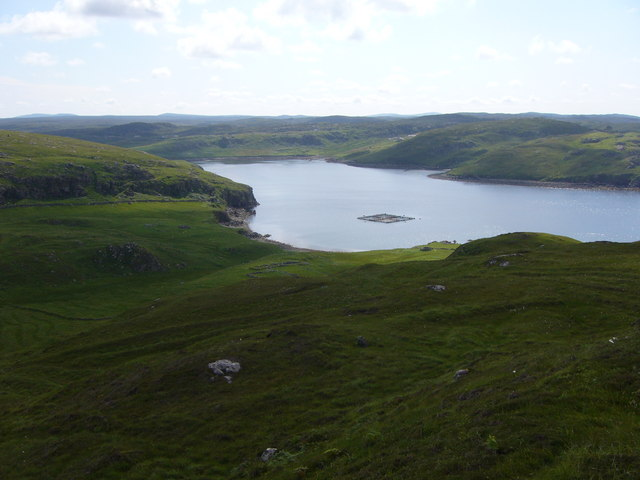Loch Carloway from eastern slopes of Ben Laimishader