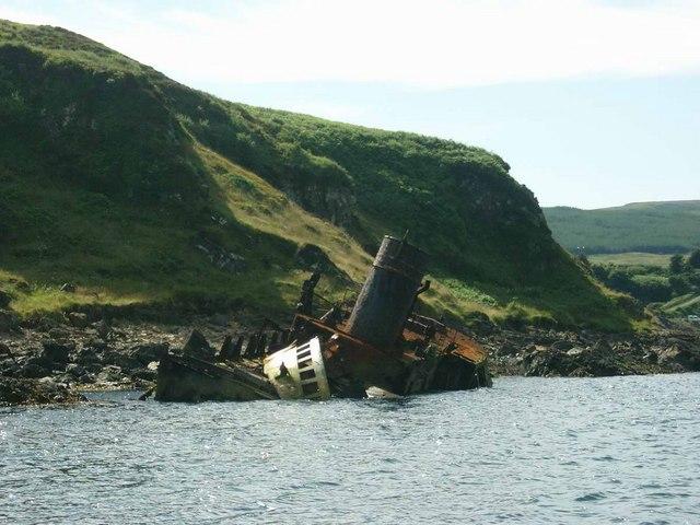 Wreck at Ruabh a Mhill