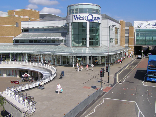 Arundel Circus entrance to the WestQuay shopping centre