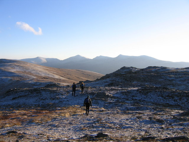 Hard frost on Creag Coire na Feola
