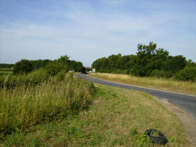 Slip road to the A168 from Dalton