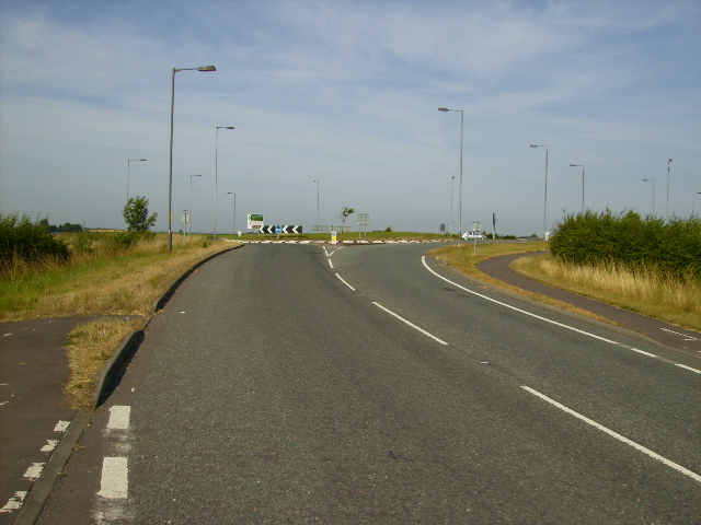 Approaching the A168 roundabout from Dishforth