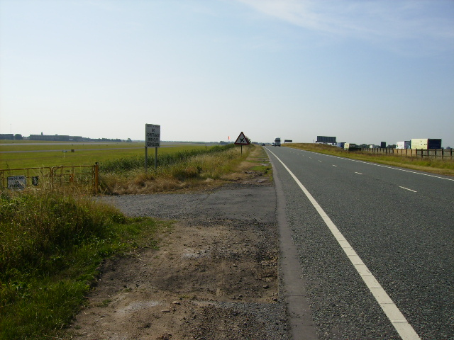 The A168 adjacent to Dishforth Airfield.