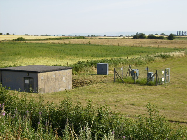 Electricity substation and adjacent building at Dishforth Airfield