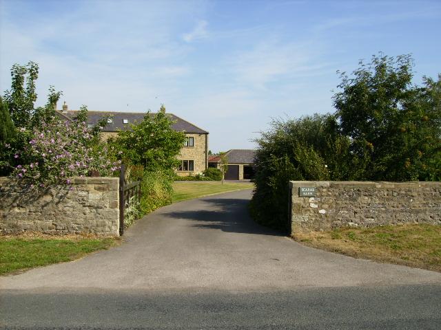 Driveway at Scarab Barn Marton-le-Moor