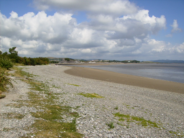 The beach near Conishead Priory