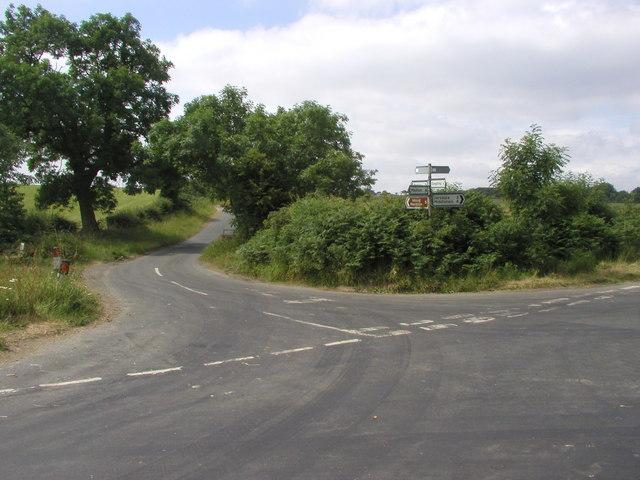 Crossroads near Ellingstring