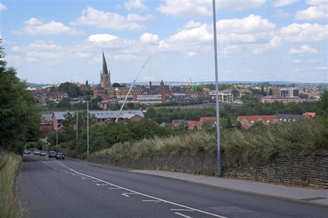 Hady Hill, overlooking Chesterfield