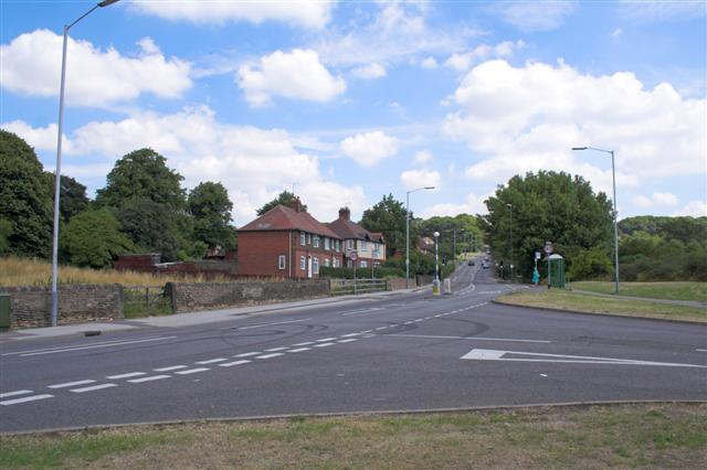 A632 Hady Hill junction with Cemetery Road