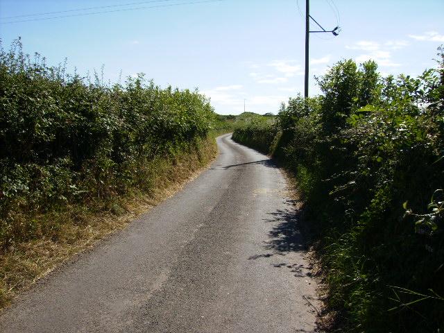 Lane in grid square SD2473