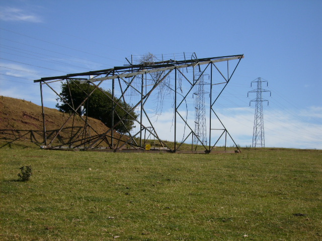 Scrap pylon dumped near pylon line