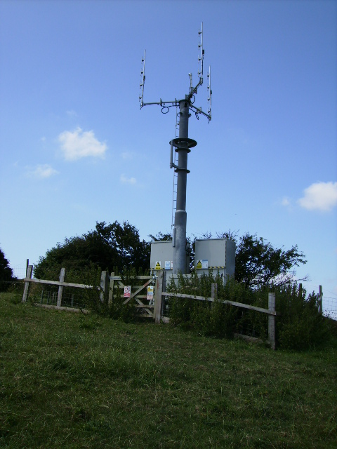 Mobile phone mast above Bowesfield Farm