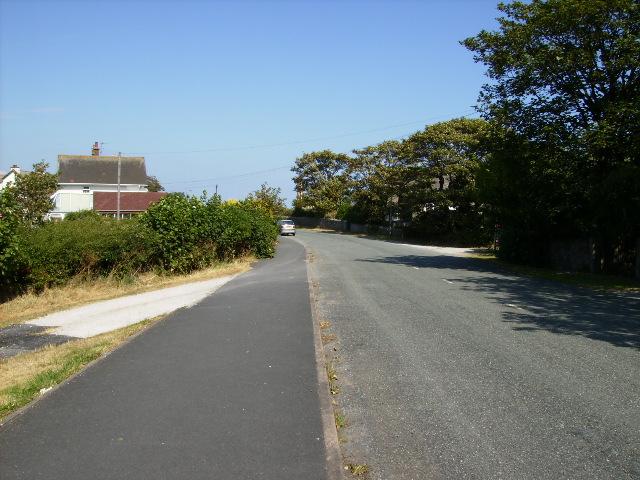 Road as it leaves Rampside village
