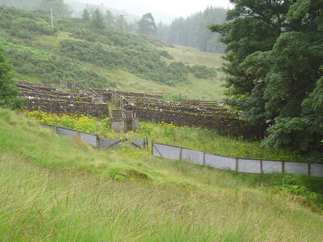 Sheep pens, Glengyle House
