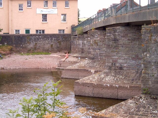 Swimmer at Brecon Town Bridge