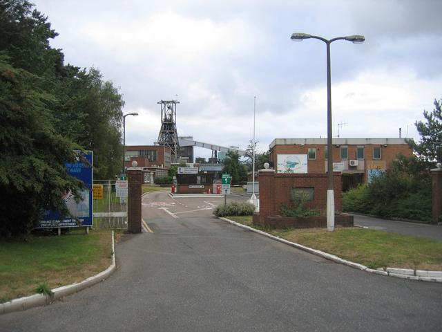 Entrance to Daw Mill Colliery