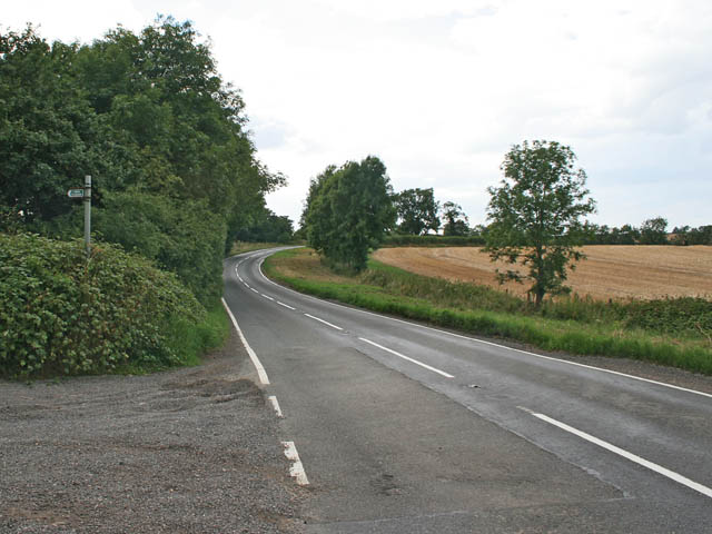 B1176 looking towards Old Somerby