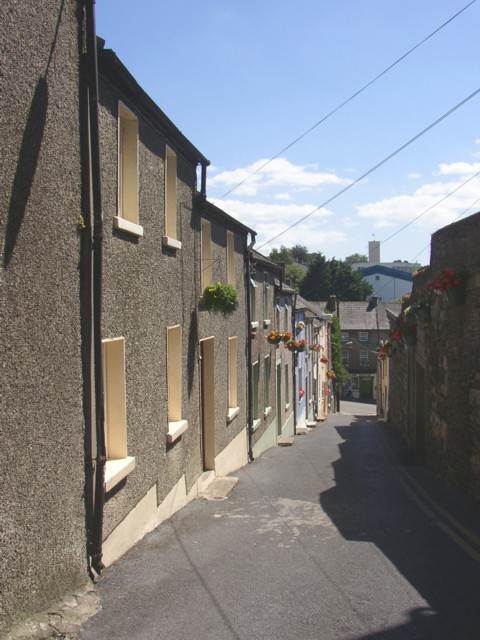 Narrow street in New Ross, Co. Wexford