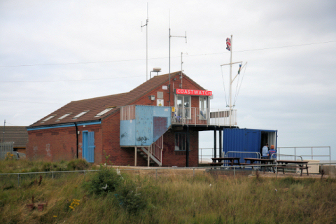 Coast Guard lookout station at Ingoldmells point