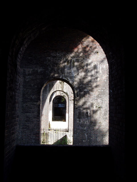 Under the arches of the Stroud viaduct