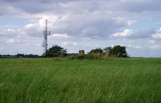 Trig point and radio mast above Stroud
