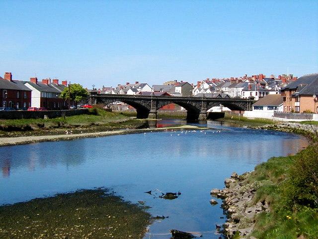 Afon Rheidol & Trefechan Bridge, Aberystwyth