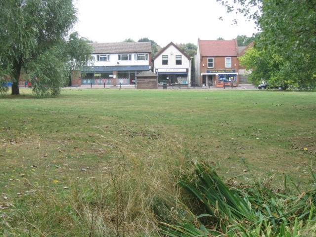 Village green and shops