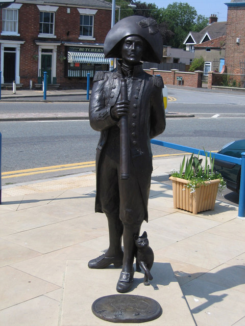 Statue of Matthew Flinders, Market Place, Donington, Lincs