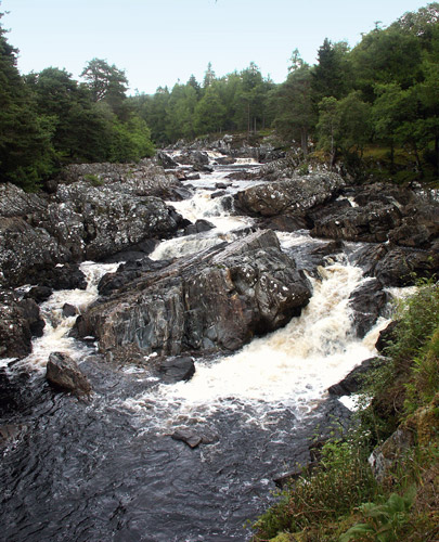 """The """"Falls of Achness"""" on the River Cassley"""