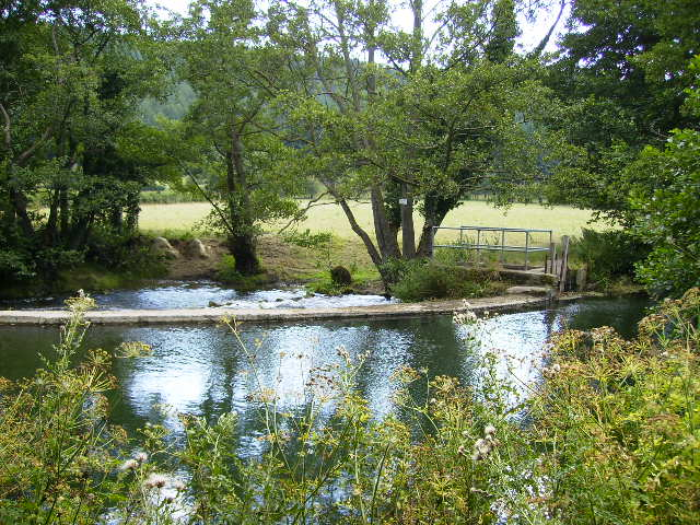 The weir on the River Lugg near Aymestrey