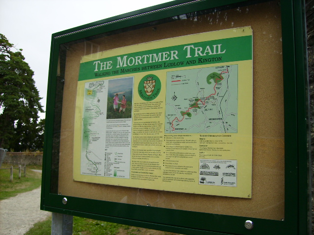 Mortimer Trail information board and track